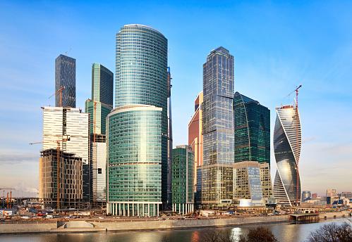 黒点「商業地区、モスクワ,ロシア」:スマホ壁紙(7)