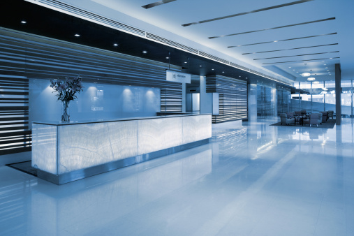 Corporate Business「Commercial Building Lobby Reception」:スマホ壁紙(4)