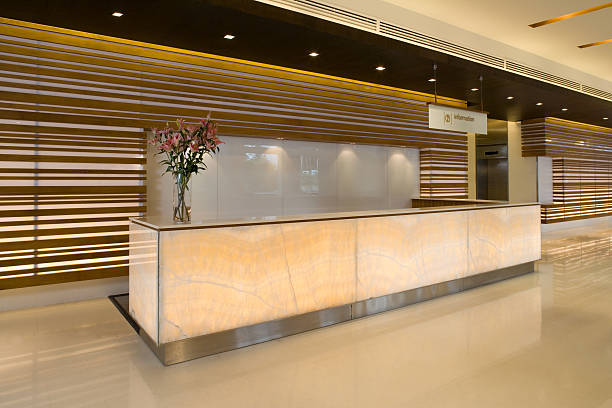 Commercial Building Lobby And Reception Counter:スマホ壁紙(壁紙.com)
