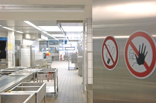 No Smoking Sign「Commercial kitchen entrance」:スマホ壁紙(16)