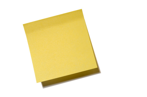 Adhesive Note「blank post it with clipping path」:スマホ壁紙(16)