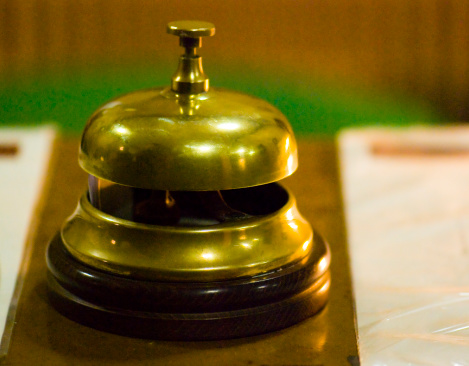 Hotel Reception「Bell on the counter of a hotel」:スマホ壁紙(3)