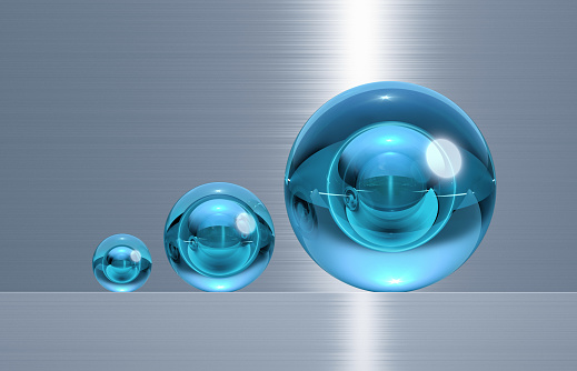 Glass - Material「glass spheres in three different sizes」:スマホ壁紙(1)