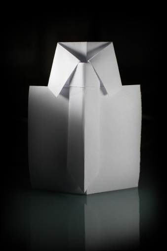 Paper Craft「White origami shirt.」:スマホ壁紙(19)