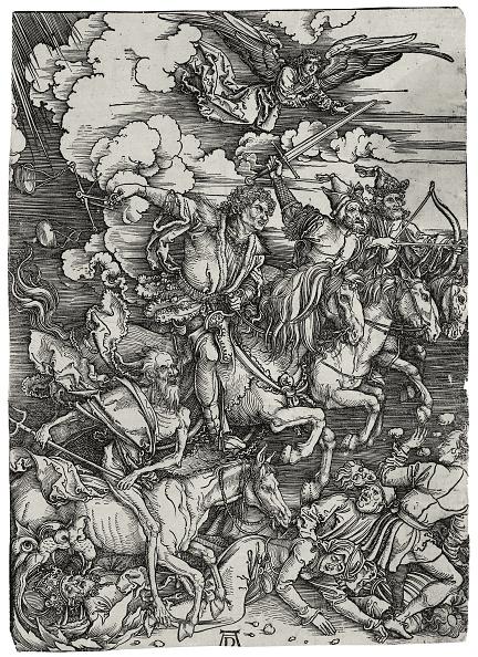 Painted Image「The Four Horsemen of the Apocalypse, ca 1498」:写真・画像(5)[壁紙.com]