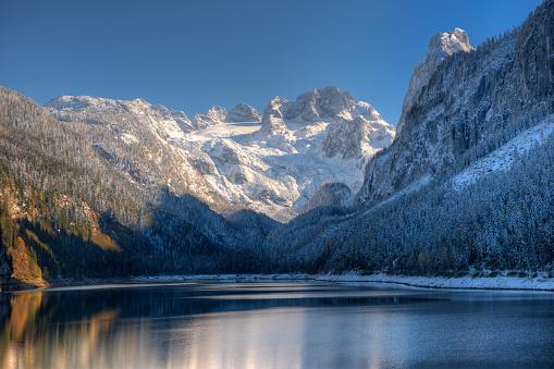 Dachstein Mountains「Gosausee with Glacier Dachstein in back - Nature Reserve Austria」:スマホ壁紙(18)