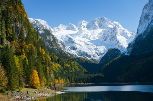 Dachstein Mountains「Gosausee with Glacier Dachstein in back - Nature Reserve Austria」:スマホ壁紙(0)