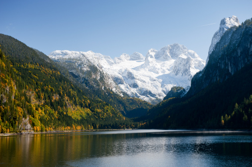 Dachstein Mountains「Gosausee with Glacier Dachstein in back - Nature Reserve Austria」:スマホ壁紙(3)