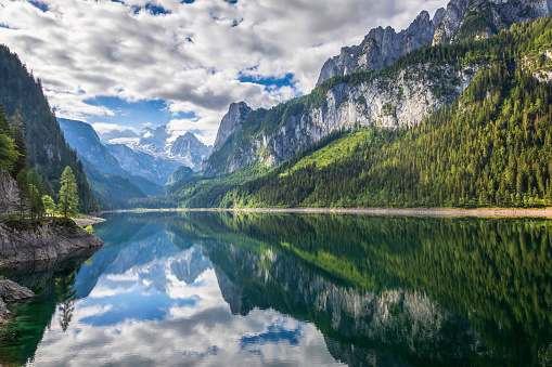 Dachstein Mountains「Gosausee with dachstein view - European Alps」:スマホ壁紙(16)