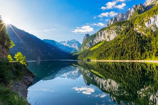 Dachstein Mountains「Gosausee with dachstein view - European Alps」:スマホ壁紙(12)