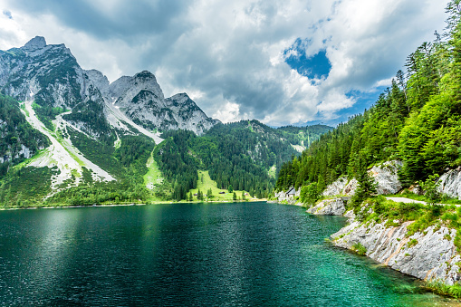European Alps「Gosausee with dachstein view - European Alps」:スマホ壁紙(8)