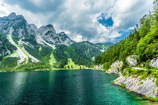 Salzkammergut「Gosausee with dachstein view - European Alps」:スマホ壁紙(10)