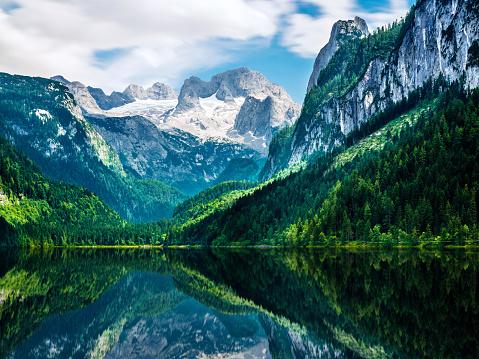 Dachstein Mountains「Gosausee with dachstein view - European Alps」:スマホ壁紙(5)