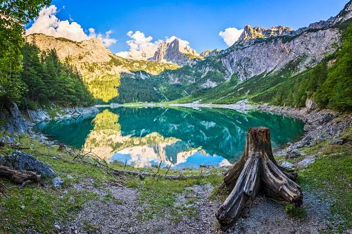 Dachstein Mountains「Gosausee with dachstein view - European Alps」:スマホ壁紙(15)