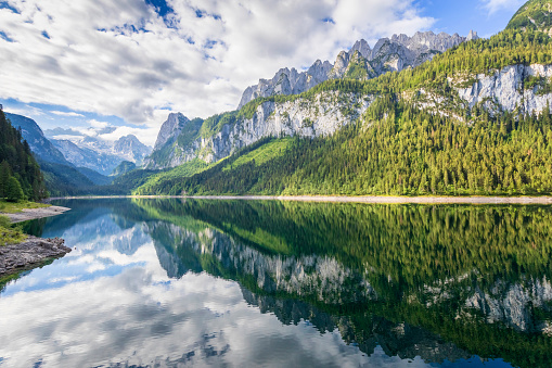 Dachstein Mountains「Gosausee with dachstein view - European Alps」:スマホ壁紙(13)