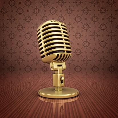 1960-1969「gold microphone」:スマホ壁紙(10)