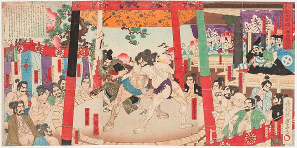 江戸時代「Sumo Performed Before Hideyoshi And Kato Kiyemasa」:写真・画像(18)[壁紙.com]