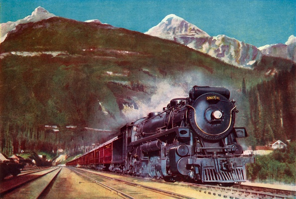Snowcapped Mountain「A Canadian Pacific Railway Giant At The Foot Of The Rockies」:写真・画像(12)[壁紙.com]