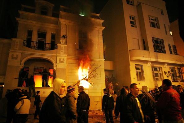 Belgrade - Serbia「Serbs Gather In Belgrade For Kosovo Protest」:写真・画像(9)[壁紙.com]