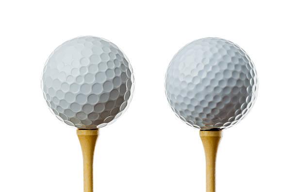 Different golf balls, on tees:スマホ壁紙(壁紙.com)