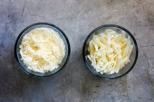 Parmesan Cheese「Different grated parmesan in glass bowls」:スマホ壁紙(18)