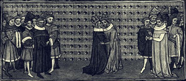 Circa 14th Century「Meeting between Edward III and Philip of France, 1331」:写真・画像(1)[壁紙.com]