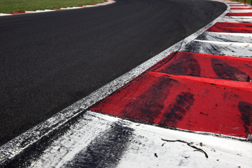 Motor Racing Track「FIA curb on a motorsports race track」:スマホ壁紙(3)