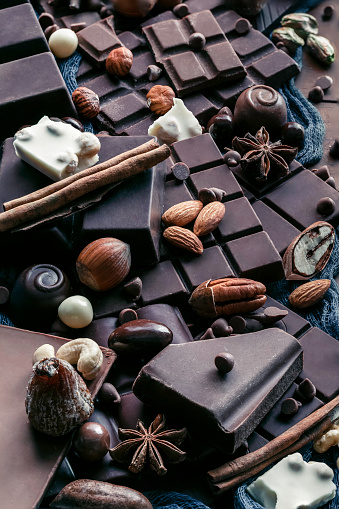 chestnut「Assorted chocolate, nuts and dried fruit in old fashioned style」:スマホ壁紙(5)