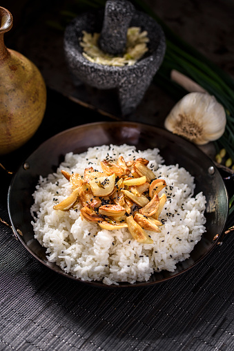 Garlic Clove「Roasted Garlic over Steamed Rice」:スマホ壁紙(4)