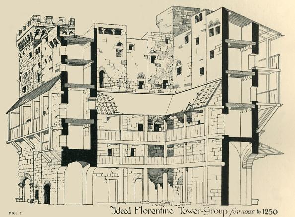 J「Ideal Florentine Tower-Group Previous To 1250」:写真・画像(8)[壁紙.com]