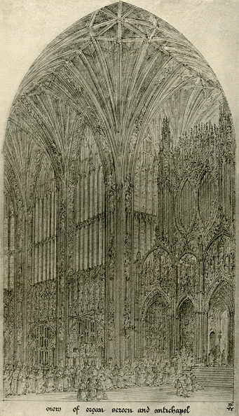 Ceiling「Architectural Drawing: View Of Organ Screen And Antichapel」:写真・画像(18)[壁紙.com]