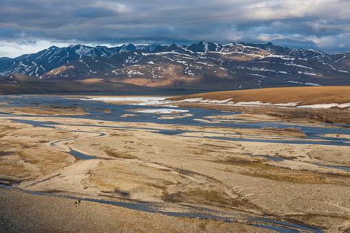 Arctic National Wildlife Refuge「Aerial of the Kongakut River」:スマホ壁紙(14)
