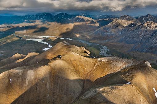 Arctic National Wildlife Refuge「Aerial of the Davidson mountains」:スマホ壁紙(1)