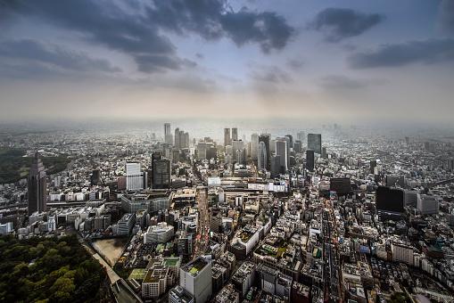 Tokyo - Japan「Aerial of Tokyo Financial Centre」:スマホ壁紙(3)