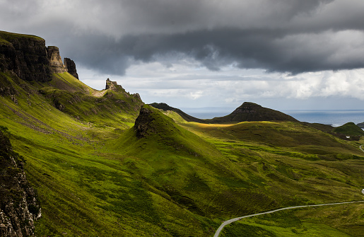 Escarpment「Quiraing landslip, Trotternish, Isle of Skye, Scotland, UK」:スマホ壁紙(19)