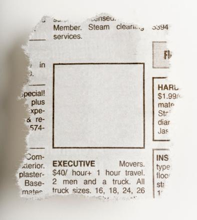 Classified Ad「Newspaper blank ad」:スマホ壁紙(12)