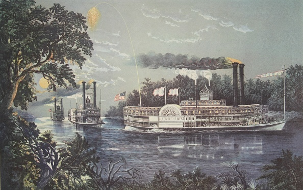 Chromolithograph「Rounding A Bend On The Mississippi」:写真・画像(11)[壁紙.com]