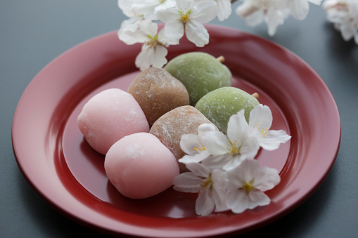 Hanami「Hanami Dango sweets and cherry blossoms」:スマホ壁紙(0)