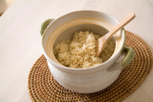 Brown Rice「Steamed brown rice in pot」:スマホ壁紙(3)