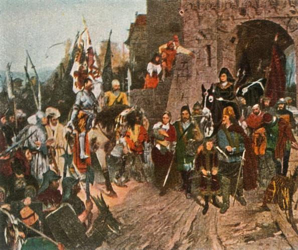 Surrendering「Agnes Von Rosenberg Surrenders Her Fathers Castle To The Hussites」:写真・画像(17)[壁紙.com]