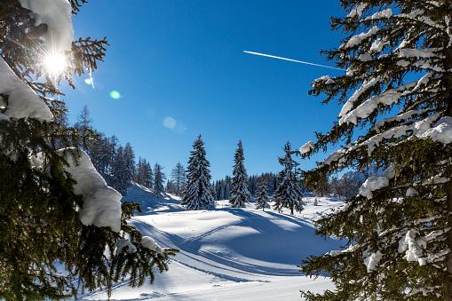 スキー場「Austria, St Johann im Pongau, snow-covered winter landscape」:スマホ壁紙(15)