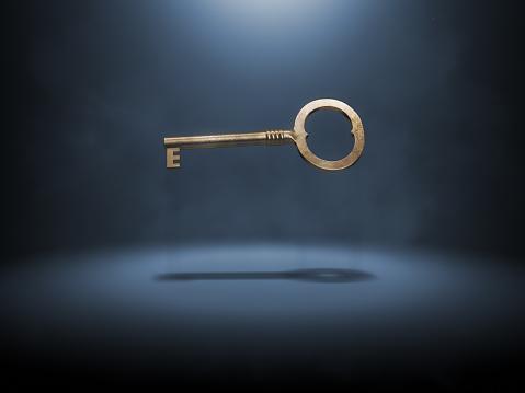 Success「A singular gold key suspended in the air」:スマホ壁紙(3)