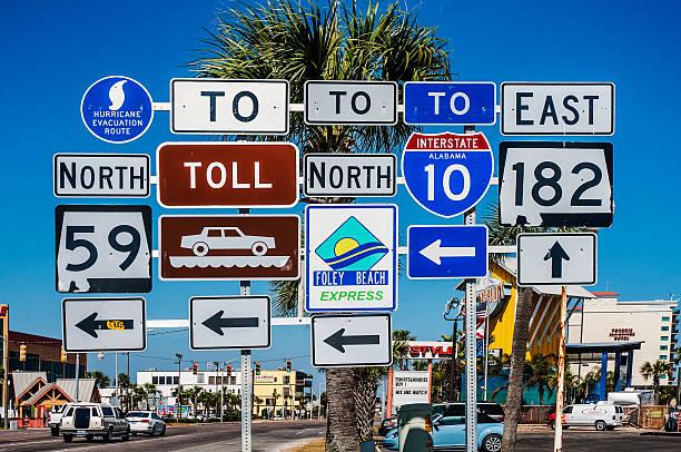 Multiple Road signs, Gulf Shores, Alabama, USA:スマホ壁紙(壁紙.com)