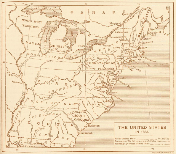 USA「Map of post-independence United States, 1783」:写真・画像(13)[壁紙.com]