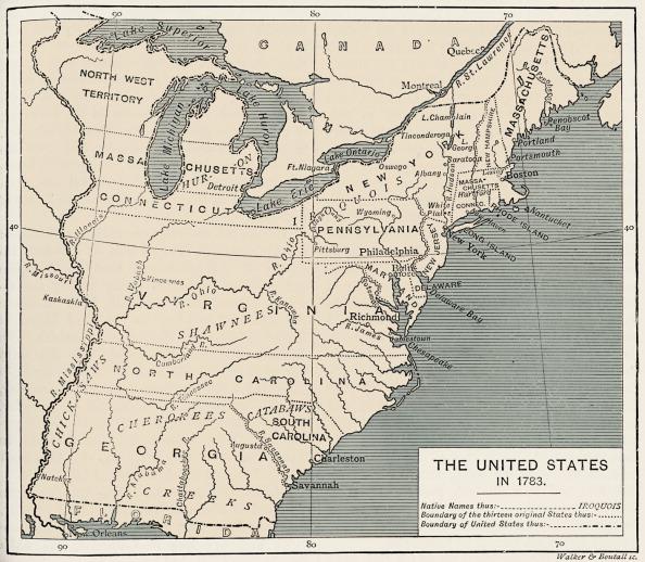 アメリカ合州国「Map of post-independence United States, 1783」:写真・画像(1)[壁紙.com]