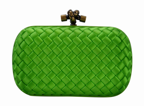 Change Purse「A green clutch handbag isolated on white」:スマホ壁紙(14)