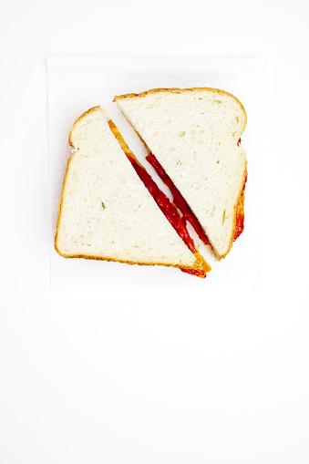 Two Objects「One peanut butter and jelly sandwich cut in half」:スマホ壁紙(2)