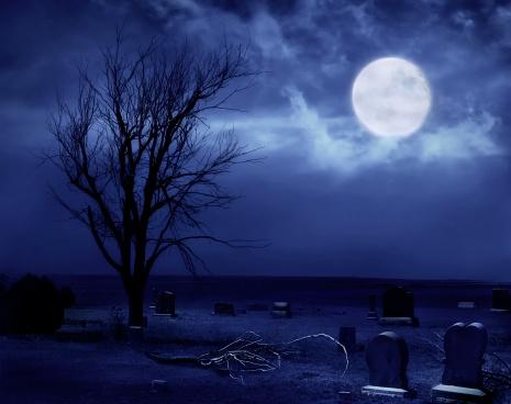 ハロウィン「恐ろしいプレーリー国立墓地」:スマホ壁紙(19)