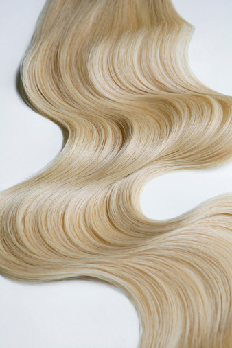 Long Hair「Blond wavy hair on white background.」:スマホ壁紙(14)