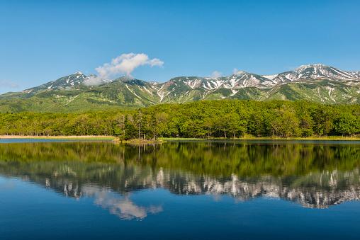 冠雪「湖 Yonko, 北海道, 日本」:スマホ壁紙(7)